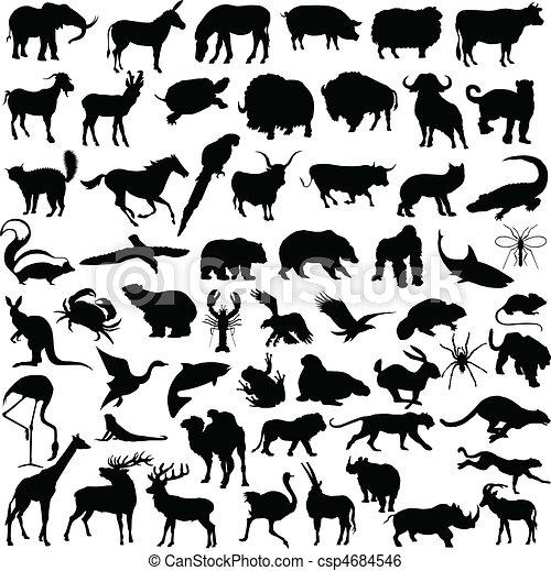 animal mix illustration - csp4684546
