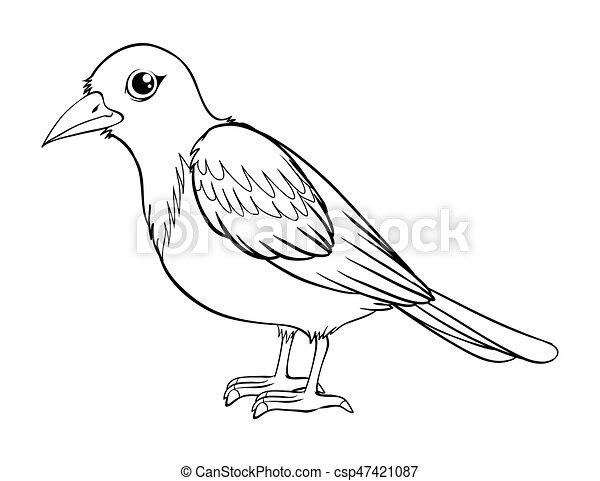 animal outline for bird illustration