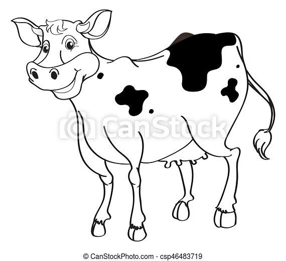 animal outline for cow illustration