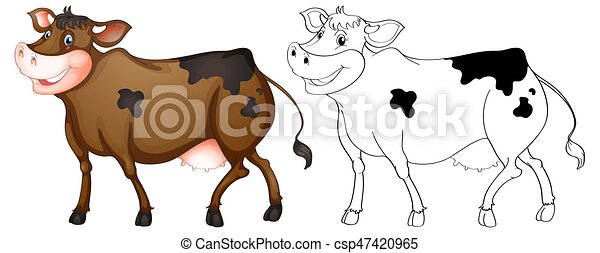 Animal outline for happy cow