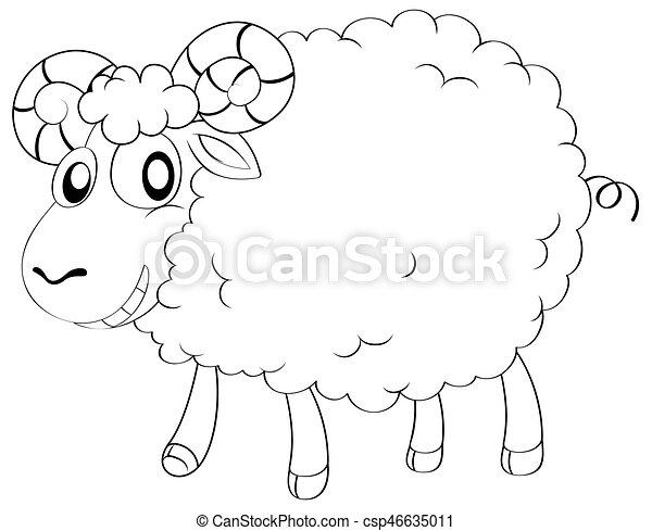 animal outline for sheep illustration