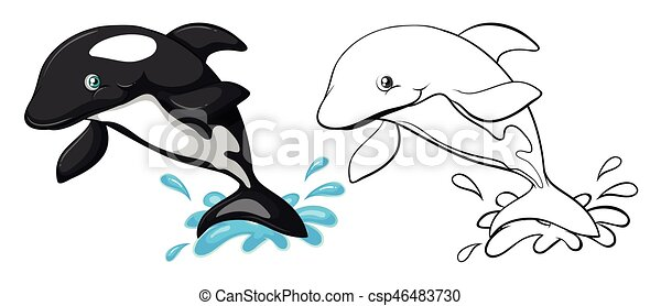 animal outline for whale csp46483730 - Whale Outline