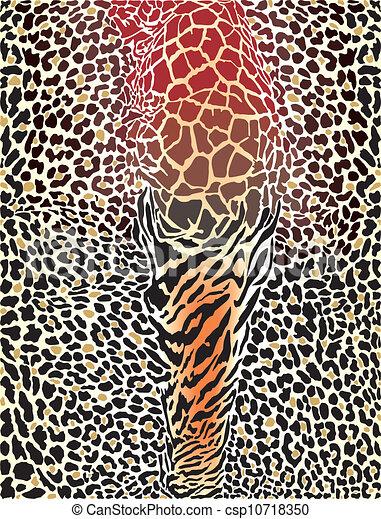 animal pattern printed background - csp10718350