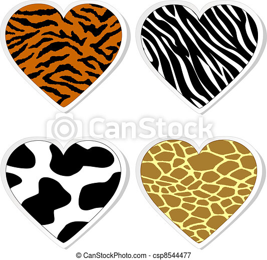 animal print heart stickers vectors illustration search clipart rh canstockphoto com animal print background clipart animal paw print clipart