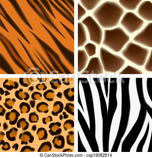 animal print seamless patterns a set of detailed animal print rh canstockphoto com Animal Footprints Clip Art animal print clip art free