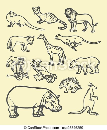 Animal Sketch 3 Wild Animals Farm Animals And Mammals Good Use