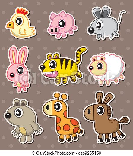 animal stickers - csp9255159