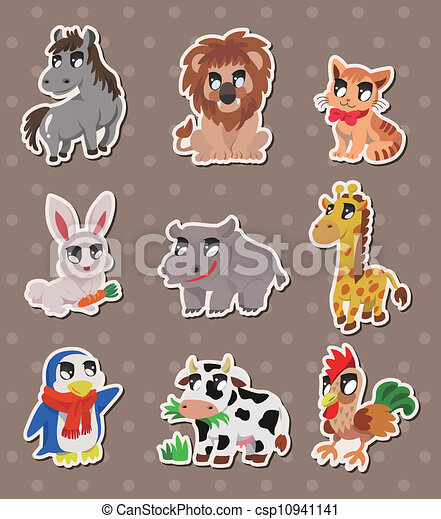 animal stickers - csp10941141