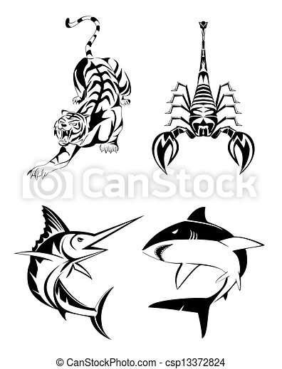 Animal Tatoo set - csp13372824