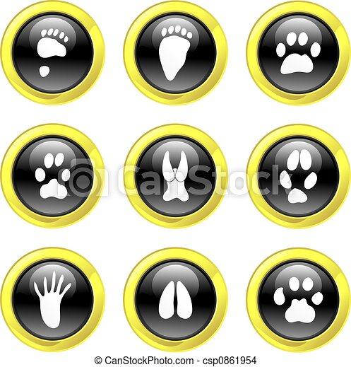 animal track icons - csp0861954