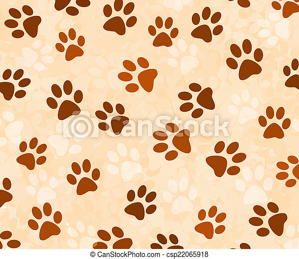 Animal tracks background - csp22065918