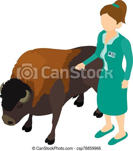 Animal treatment icon, isometric style - csp76859966