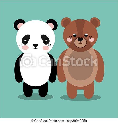Animale orso cartone animato peluche disegno imbottito panda