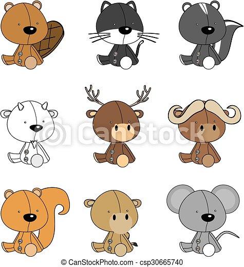 Lindos dibujos animados de bebés - csp30665740