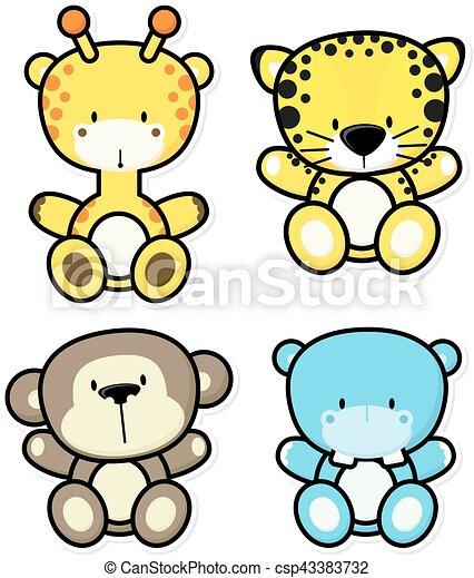 Lujo Animales De La Jungla Bebé Para Colorear Galería - Dibujos de ...