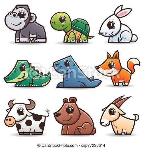 animales, caricaturas - csp77238614