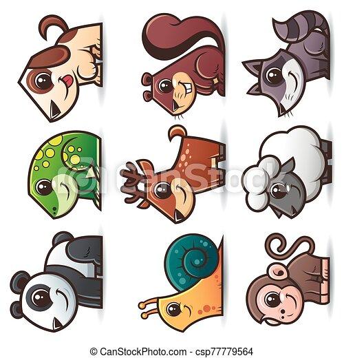 animales, caricaturas - csp77779564