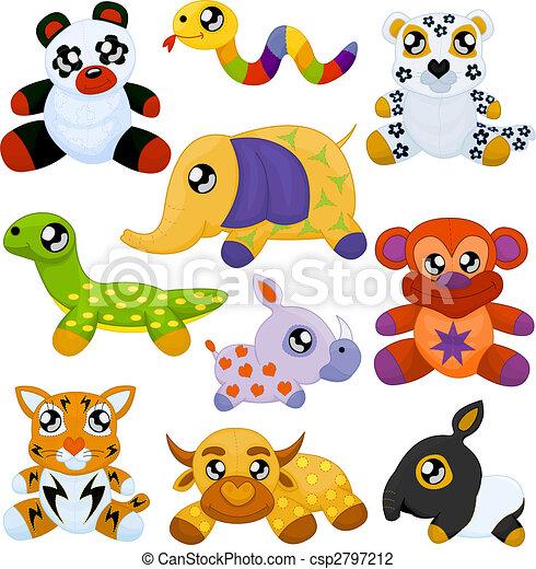 Animales de juguete asiáticos - csp2797212