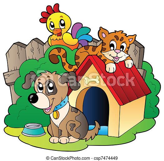 Tres animales domésticos - csp7474449