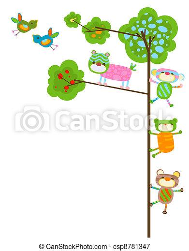 Lindo diseño de animales - csp8781347