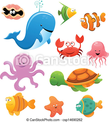 Animales marinos - csp14690262