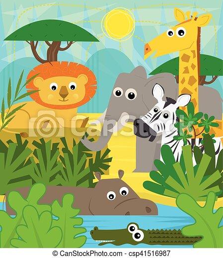 Animales safari - csp41516987