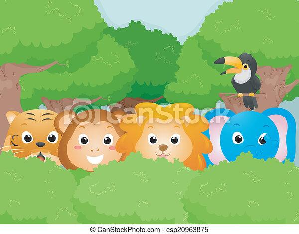Animales safari - csp20963875