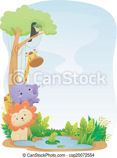 Fondo de animales safari - csp20072554