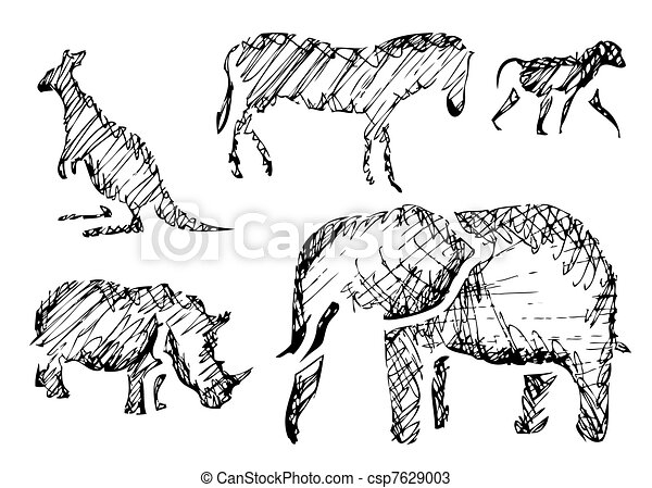 Animales salvajes - csp7629003