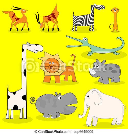 Animales salvajes africanos - csp6649009