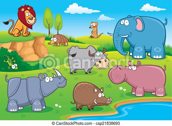 Animales salvajes - csp21838693