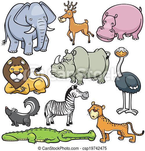 Animales salvajes - csp19742475