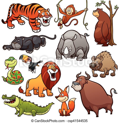 Animales salvajes - csp41544535