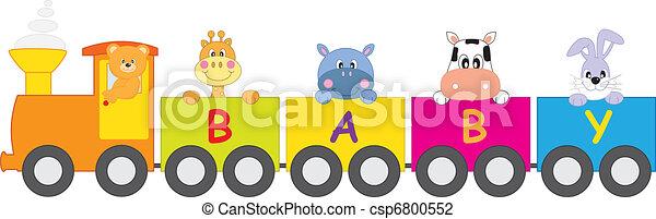 Animales en el tren - csp6800552