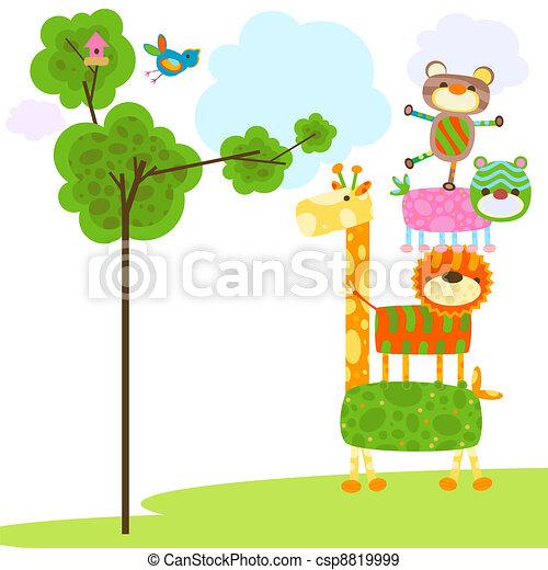 animali, carino, disegno - csp8819999
