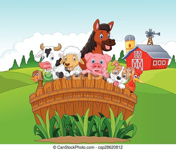 Animali fattoria cartone animato collezione animali for Piani di fattoria georgiana