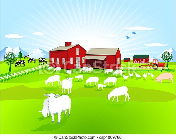 Animali fattoria vettore cerca clip art illustrazioni for Piani di fattoria tedesca