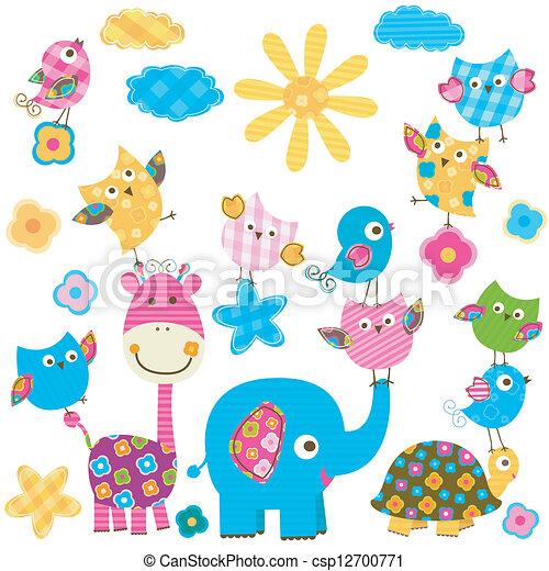 animali, felice - csp12700771