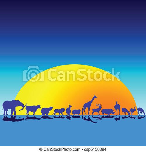 animali selvaggi, crepuscolo - csp5150394