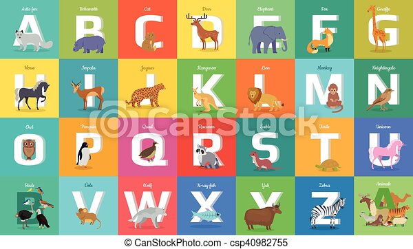 Animals Alphabet  Letter from A to Z