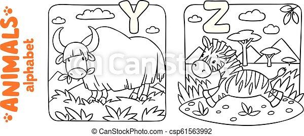 Animals Alphabet Or Abc Coloring Book Set