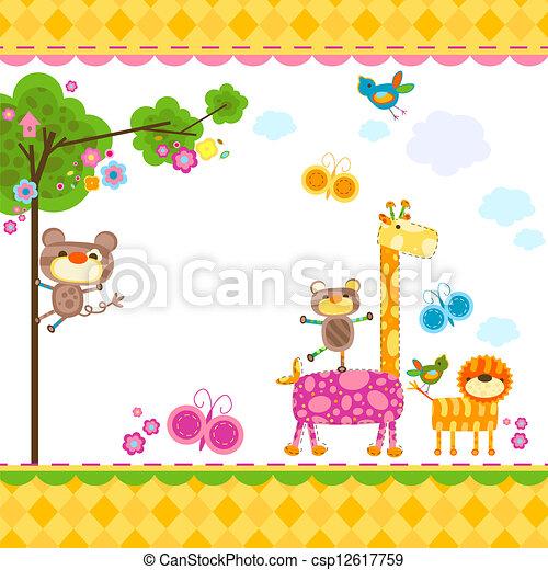 animals background - csp12617759