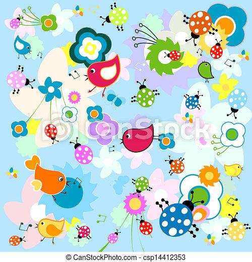 animals background - csp14412353