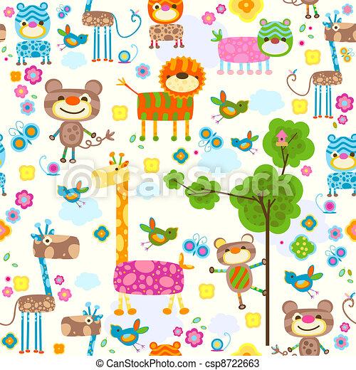 animals background - csp8722663
