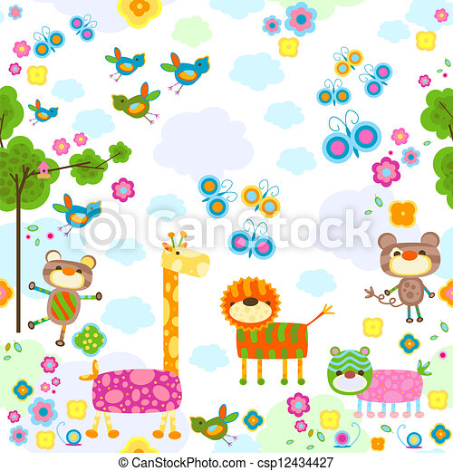 animals background - csp12434427