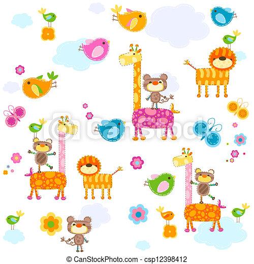 animals background - csp12398412
