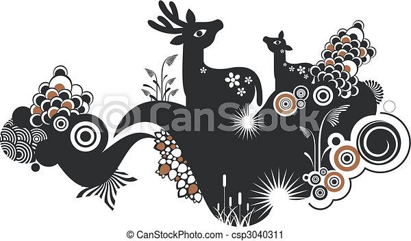 animals background - csp3040311