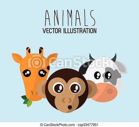Animals cartoon design - csp33477951
