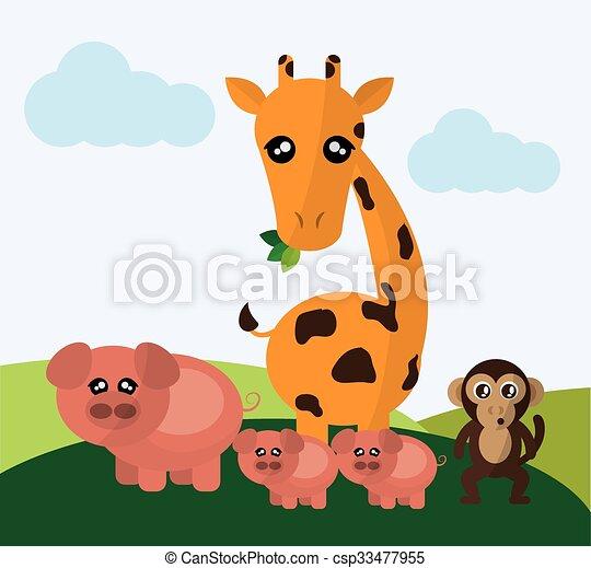 Animals cartoon design - csp33477955