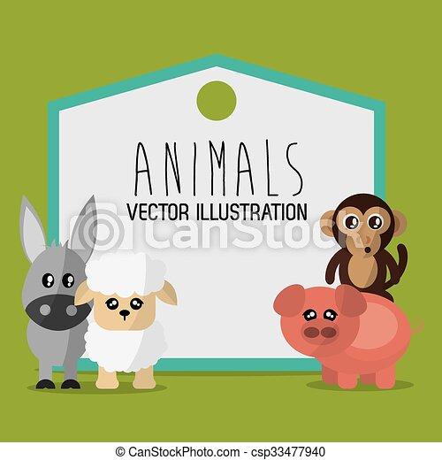 Animals cartoon design - csp33477940